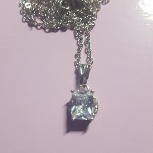 Crystal Emerald Cut Stone Expandable Necklace